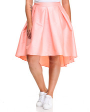 Fashion Lab - Fashionista Hi-Low Hem Taffeta Skirt (Plus)