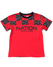 T-Shirts - BLOC NATION CHECK TEE (2T-4T)