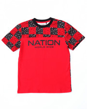 T-Shirts - BLOC NATION CHECK TEE (8-20)
