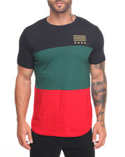 Buyers Picks - Colorblock Scallop Tee w Star & Stripes