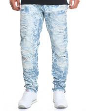 Men - Sky - Wash Rip - And - Repair Denim Jeans