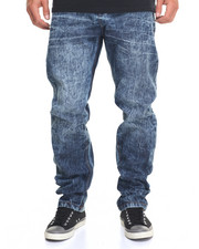 Men - Cross - Hatch Washed - Down Denim Jeans