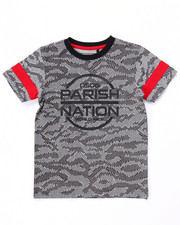 T-Shirts - BLOC NATION ALL OVER KNIT PRINT TEE (4-7)