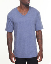 Shirts - Basic Heathered V - Neck S/S Tee