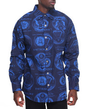 Men - L/S Currency Buttondown