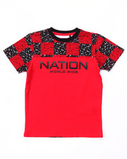 T-Shirts - BLOC NATION CHECK TEE (4-7)
