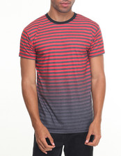 Basic Essentials - Striped Printed S/S Tee