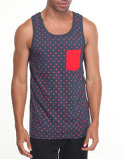 Tanks - Polka Dot Printed Tank Top