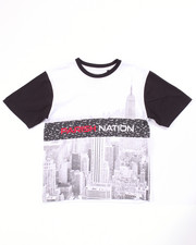 Boys - BLOC NATION SUBLIMATION CITY TEE (8-20)