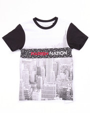 Boys - BLOC NATION SUBLIMATION CITY TEE (4-7)