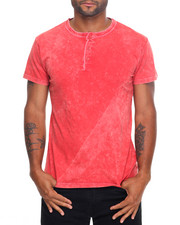 Basic Essentials - Pigment Dyed S/S Henley Tee