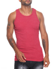 Basic Essentials - Heathered Heavy Weight Rib Tank Top