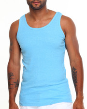 Tanks - Heathered Heavy Weight Rib Tank Top