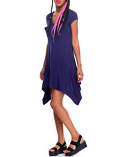 Dresses - Bianca Sharkbite Trapeze Dress