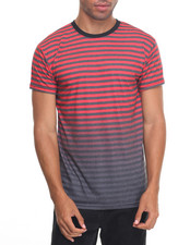 Shirts - Striped Printed S/S Tee
