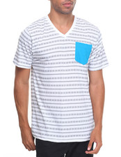 T-Shirts - Pattern Printed V-Neck S/S Tee