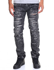 Buyers Picks - Mineral Wash Rip - And - Repair Denim Jeans
