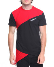 Buyers Picks - S/S Asymetrical Colorblock Tee