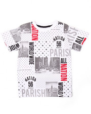 Tops - ALL OVER PRINT CITYSCAPE TEE (4-7)