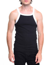 Tanks - Contrast Thick - Trim Tank Top