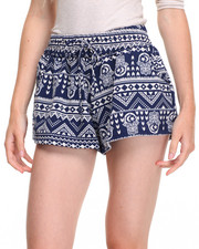 Women - Spiritual Printed Shorts