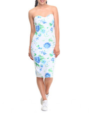 Fashion Lab - Floral Print Strapless Dress