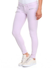 Jeans - Zip Trim Stretch Cotton Pant