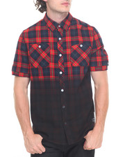 Button-downs - Ombre S/S Plaid Buttondown