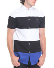 Button-downs - Striped Color Block S/S Button - Down