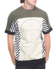 Men - Diagonal Stripe Pieced Tee