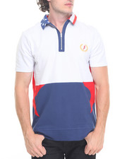 Men - Track Stars Zip S/S Polo