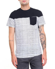 Shirts - Sketchy Stripe Crew Tee