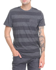 Men - Chain V Stripe Crew Tee