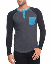 Henleys - Colorblock Button Henely