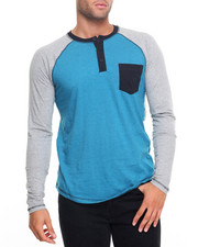 Men - Colorblock Button Henley