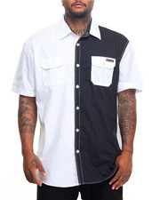 Enyce - Color Block S/S Button-Down (B&T)