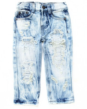 Boys - DISTRESSED CLOUD WASH JEANS (2T-4T)