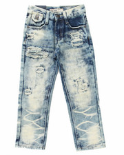 Arcade Styles - DISTRESSED CLOUD WASH JEANS (4-7)