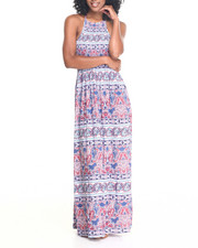 Fashion Lab - Mia Smocked Bodice Halter Maxi