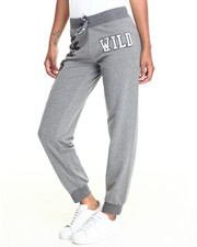 Bottoms - WILD LEOPARD GRAPHIC FRENCH TERRY JOGGER