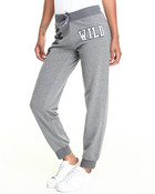 WILD LEOPARD GRAPHIC FRENCH TERRY JOGGER