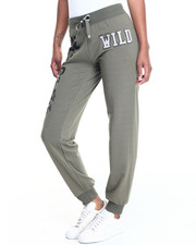 Women - WILD LEOPARD GRAPHIC FRENCH TERRY JOGGER