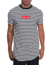 Men - WELL SPLASH STRIPED SCALLOPED S/S TEE