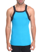 Tanks - CONTRAST THICK-TRIM TANK TOP