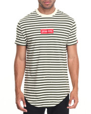 Shirts - WELL SPLASH STRIPED SCALLOPED S/S TEE