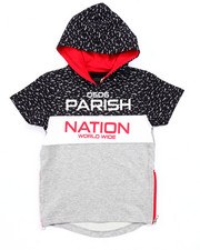 Hoodies - BLOC NATION S/S FRENCH TERRY HOODY (4-7)