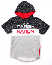 Boys - BLOC NATION S/S FRENCH TERRY HOODY (8-20)
