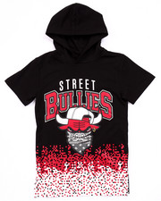 Boys - STREET BULLIES PIXEL HOODED TEE (8-20)