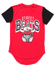 Boys - ELONGATED STREET BEATS TEE (4-7)