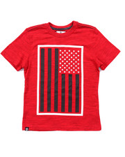 Boys - SLUB AKA FLAG TEE (8-20)
